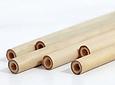 4 bombillas de bambú + 1 cepillo limpiador