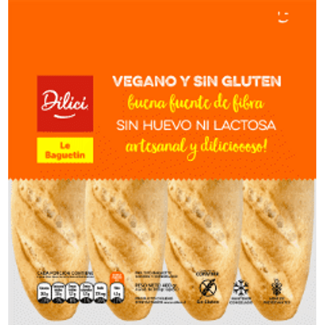 Pan Baguetín (Vegano, sin gluten)