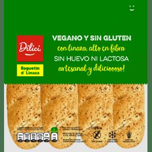 Pan Baguetín d' Linaza (Vegano, sin gluten)