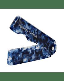 Suavecito Peine Plegable Azul