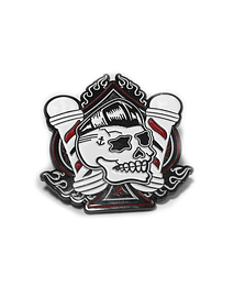 Pin Gallo de Oro Psycho Skull