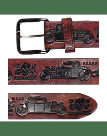 Lucky 13 Cinturon Cuero