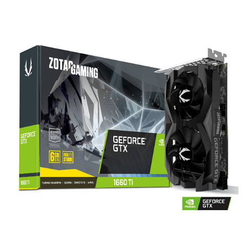 Tarjeta de Video ZOTAC GAMING GeForce GTX 1660 Ti 6GB GDDR6 192-bit, 1536 CUDA