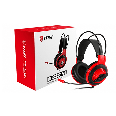 Audifono Gamer MSI DS501 Gaming Headset, con microfono ajustable