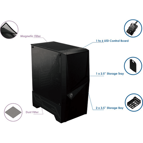 Gabinete MSI Mid-Tower MAG FORGE 100R