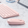 Mouse Logitech Pebble M350 - Mouse - optical - 3 buttons - wireless - Bluetooth, 2.4 GHz - USB wireless re pink