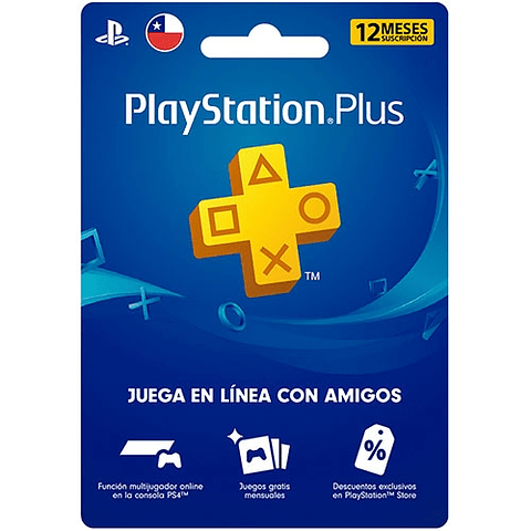 Tarjeta PlayStation Plus 12 Meses Chile