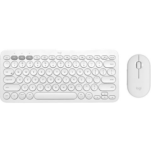 Kit Logitech Teclado K380 + Mouse M350 WHITE Bluetooth