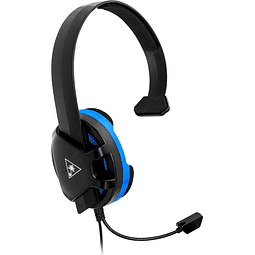 Audífono Gamer Turtle Beach Recon Chat Negro 3.5mm PS4™ PRO, PS4™ Y PS5™ | XBOX ONE | MOBILE