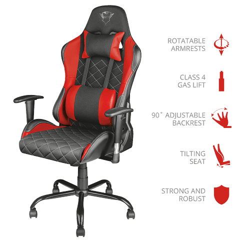 Silla Gamer Profesional TRUST GXT 707R Resto Gaming Chair - RED