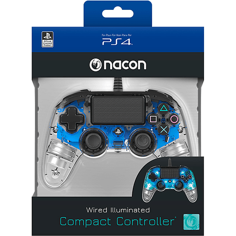 Control PS4 Wired illuminated Compact Blue Nacon