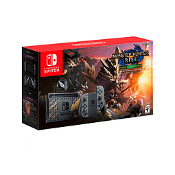 CONSOLA NINTENDO SWITCH MONSTER HUNTER RISE DELUXE EDITION + JUEGO MONSTER HUNTER RISE