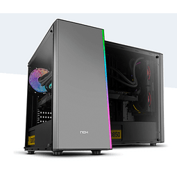 Gabinete Gamer NOX Infinity Omega, RGB Rainbow, 1 Cooler, Lateral Acrílico