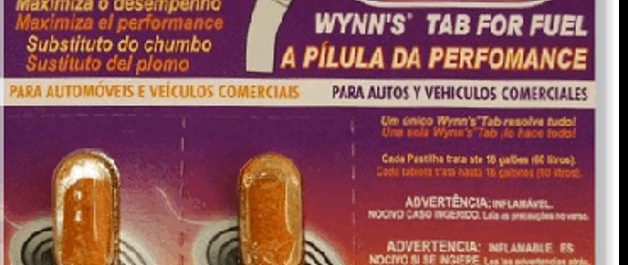 Pílula para Gasolina Wynn´s