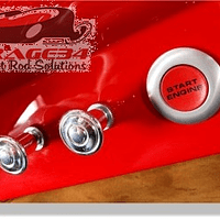 Botão em Aluminio Clássico para Hastes de 3/16