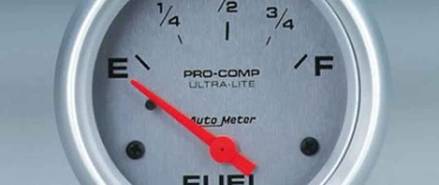 Marcador de combustível Auto Meter linha Ultra-Lite com 2-5/8 polegadas de diâmetro, elétrico, leitura de 0 a 90 ohms (GM)