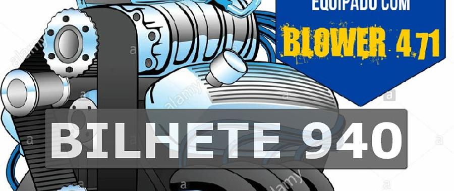 Ford 302 com Blower Bilhete 940
