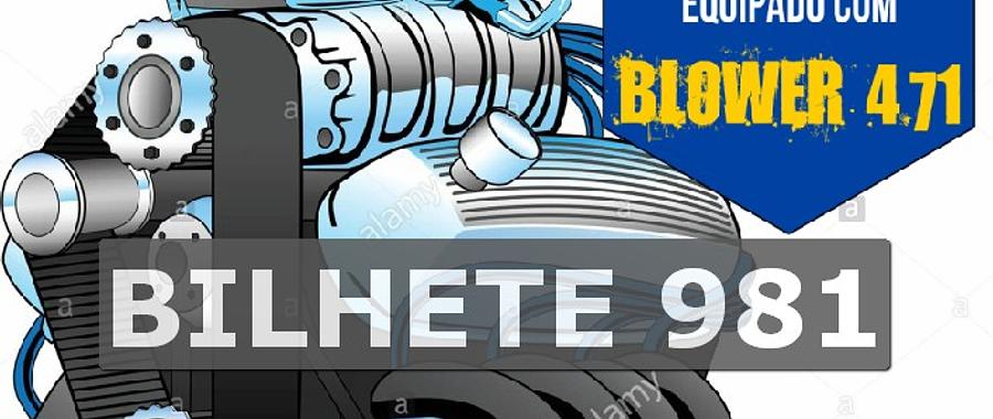 Ford 302 com Blower Bilhete 981