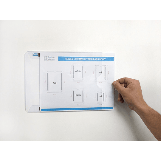 Display de Documento Adhesivo