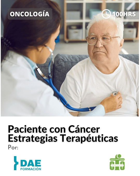 Curso de Paciente con Cáncer: Estrategias Terapéuticas ( 100 hrs)