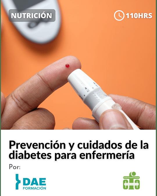 Curso sobre prevención y cuidados de la diabetes para enfermería ( 110 hrs)