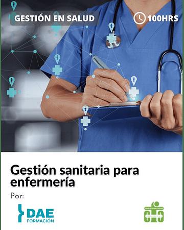 Curso de gestión sanitaria para enfermería ( 100 hrs)