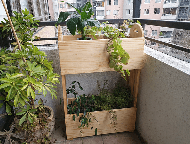 Jardinera - Huerta urbana 2 niveles