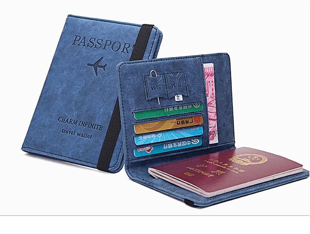 Funda para Pasaporte cuero PU