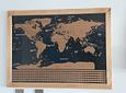 Mapa Raspable 83X60cm enmarcado