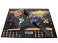 Mapa Raspable Enmarcado 62x48cm - Maravillas del Mundo