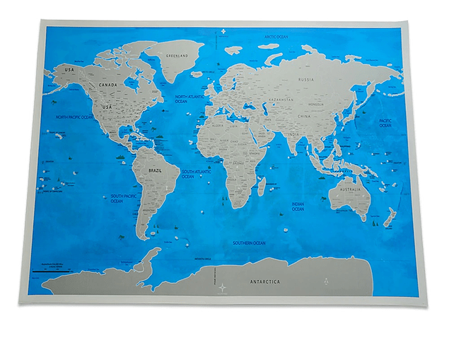 Mapa Raspable Enmarcado 83x59 cm