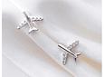 Aros de Plata y Zircones diseño Avión