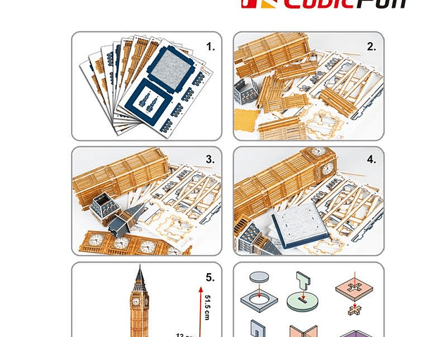 Big Ben (UK) - Puzzle 3D CubicFun