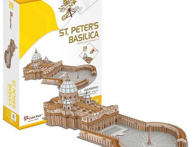 Basílica de San Pedro (Italia) - Puzzle 3D CubicFun