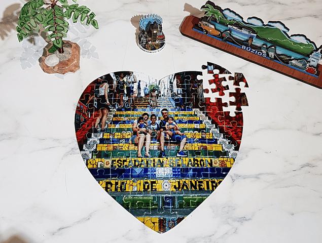 Puzzle con forma de Corazón o Rectangular Personalizado