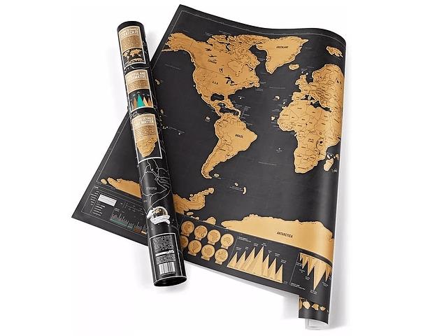 Mapa para Raspar Deluxe Edition 82x59cm con tubo protector