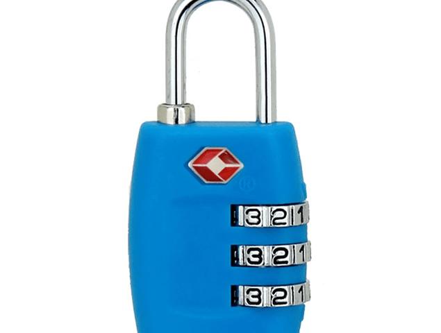 Candado con combinación y norma TSA