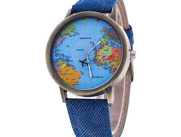 Reloj con Mapamundi