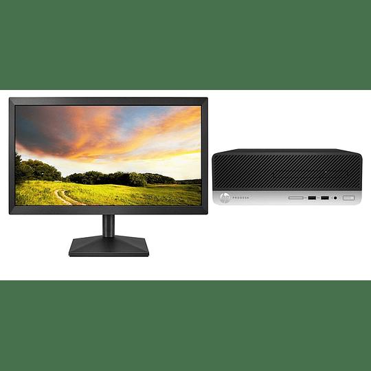 Computador  HP ProDesk 400 G6 SFF i7-9700, 8GB RAM, 1TB , Win10 + 21.5''