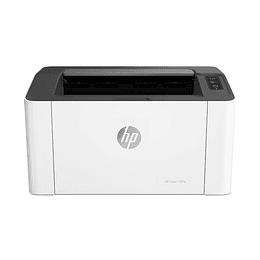 Impresora HP Laser 107w inalámbrica Laser Blanco/Negro, hasta 21ppm, WiFi  USB
