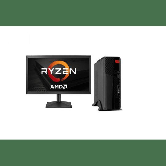 Computador AMD Ryzen 3 PRO 2200G, 8GB RAM,1TB HDD + 120GB SSD,  21.5'' FHD