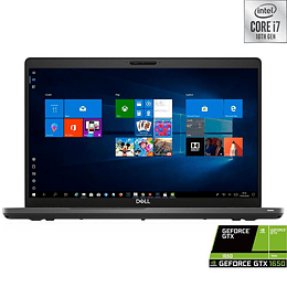 Notebook Dell 5500 i7-10750H, Ram 8GB, SSD 512GB, Led 15.6'', GTX 1650Ti, W10H