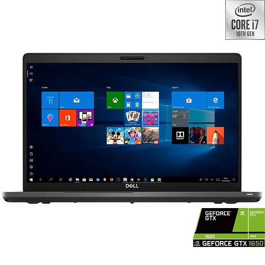 Notebook Dell 5500 i7-10750H, Ram 8GB, SSD 512GB, Led 15.6'', GTX 1650Ti, W10H