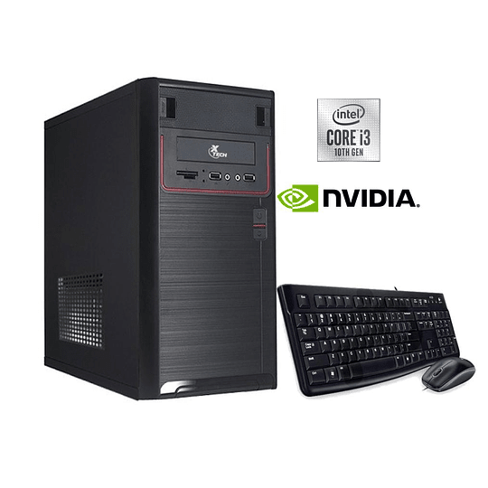 Desktop intel core i3-10100/ 8GB/ 240GB SSD + 1TB HDD/ GTX 1050TI/ W10H