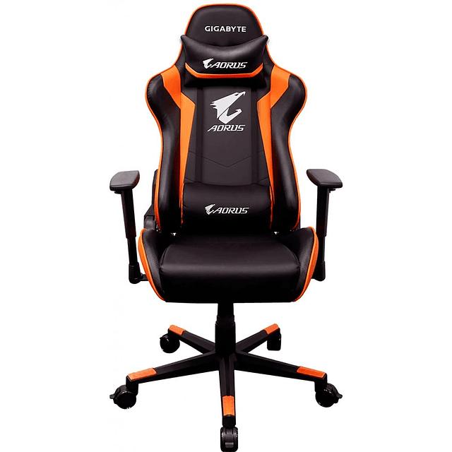 Silla gamer profesional Gigabyte Aorus AG C300 negro/ naranja