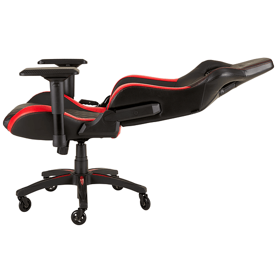 Silla Gamer Profesional Corsair T1 Race, Asiento Ancho, Respaldo Alto, Rojo, Negro