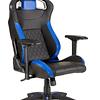 Silla Gamer Profesional Corsair T1 Race, Asiento Ancho, Respaldo Alto, Max, Negro, Azul