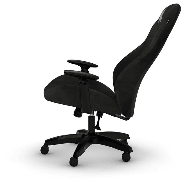 Silla Corsair gamer C60 asiento acho, respaldo alto, negro/ gris