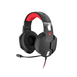 Audifonos Carus GXT 322 gaming headset, negro/rojo