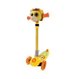 Scooter Peluche Leon 3 Ruedas con Luces